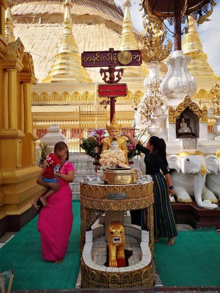 ofrendas en viaje a Myanmar
