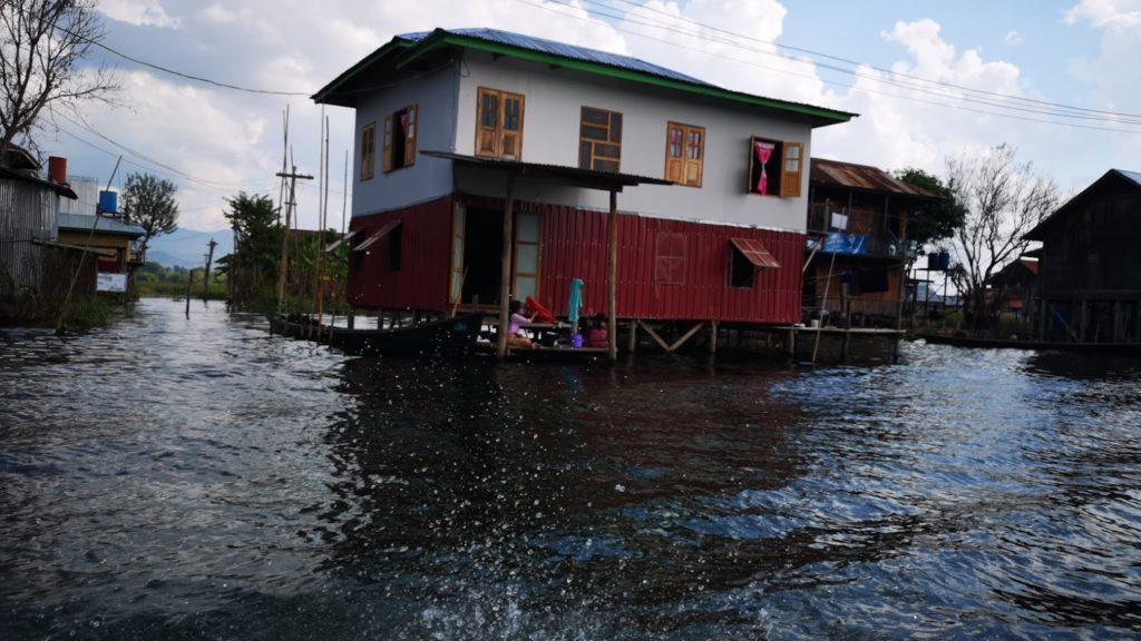 casas flotantes Myanma